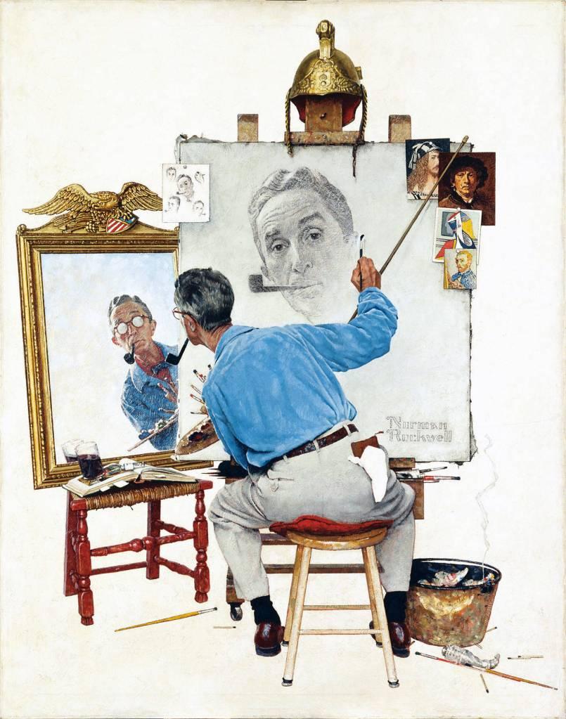 norman_rockwell_-_triple_self_portrait