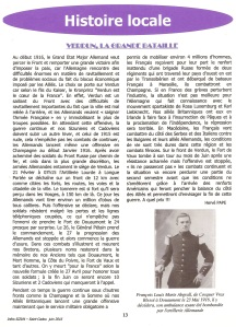 VERDUN, LA GRANDE BATAILLE in bulletin muicipal Infos Sizun-Saint-Cadou, juin 2016 page 13